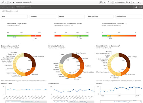 Qlik Sense Demo Executive Dashboard